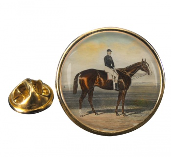 Racehorse Meteor W. Scott up Round Pin Badge