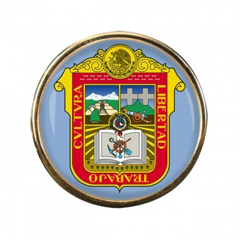 Estado de Mexico Round Pin Badge