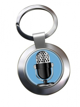 Microphone Chrome Key Ring