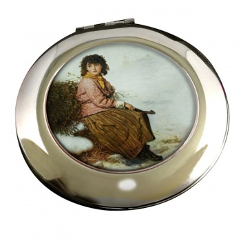 The Mistletoe Gatherer by John Everett Millais Round Mirror
