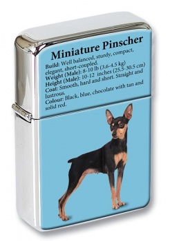 Miniature Pinscher Flip Top Lighter