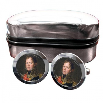 Marshal Michel Ney Round Cufflinks