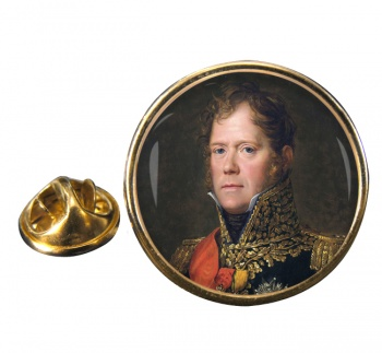 Marshal Michel Ney Round Pin Badge