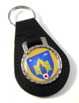 Montpellier (France) Leather Key Fob