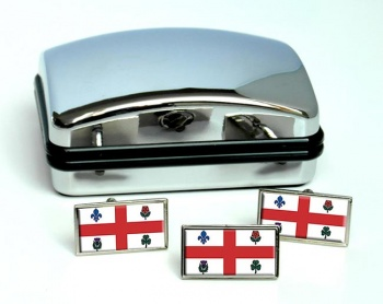 Montreal (Canada) Flag Cufflink and Tie Pin Set