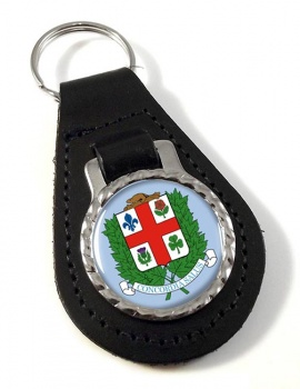 Montreal (Canada) Leather Key Fob