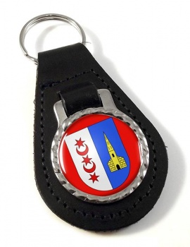 Montreux (Switzerland) Leather Key Fob