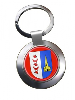 Montreux (Switzerland) Metal Key Ring