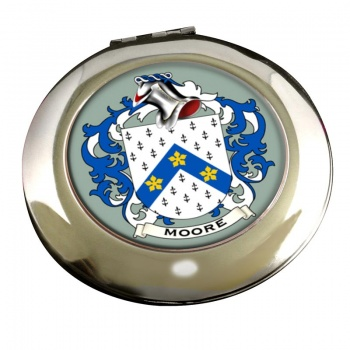 Moore English Coat of Arms Chrome Mirror