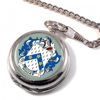 Moore English Coat of Arms Pocket Watch