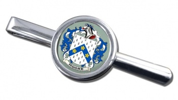 Moore English Coat of Arms Round Tie Clip