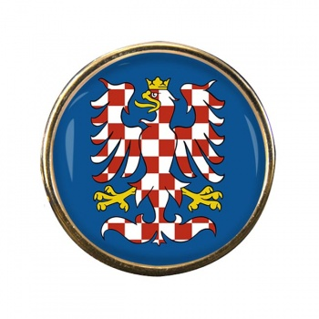 Moravia Round Pin Badge