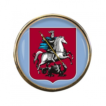 Moscow Round Pin Badge
