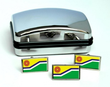 Mpumalanga (South Africa) Flag Cufflink and Tie Pin Set