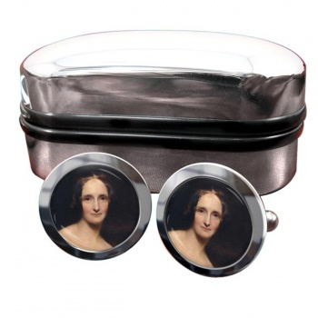 Mary Shelley Round Cufflinks
