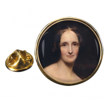 Mary Shelley Round Pin Badge