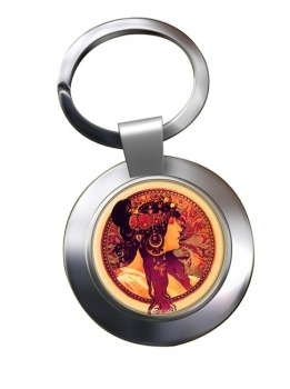 Donna Orechini by Mucha Chrome Key Ring