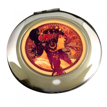 Donna Orechini by Mucha Round Mirror