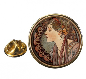 Vitrail a l'email by Mucha Pin Badge