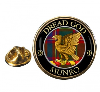 Munro Scottish Clan Round Pin Badge