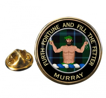 Murray (Savage) Scottish Clan Round Pin Badge