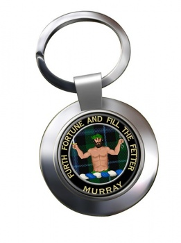 Murray (Savage) Scottish Clan Chrome Key Ring