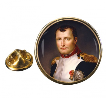 Napoleon Bonaparte 1812 Round Pin Badge