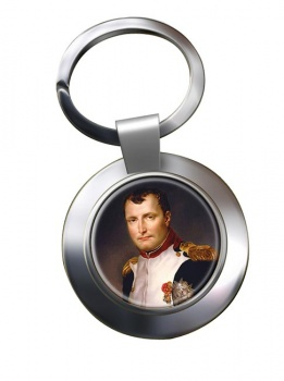 Napoleon Bonaparte 1812 Chrome Key Ring