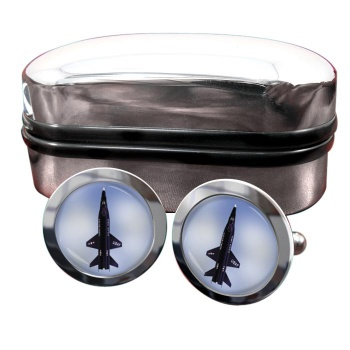North American X-15 Round Cufflinks