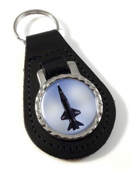 North American X-15 Leather Keyfob