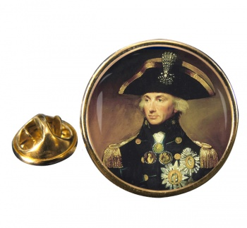 Admiral Lord Nelson Round Pin Badge