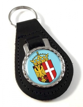 Neuss (Germany) Leather Key Fob