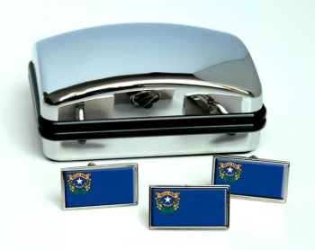 Nevada  Flag Cufflink and Tie Pin Set