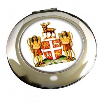 Newfoundland and Labrador (Canada) Round Mirror