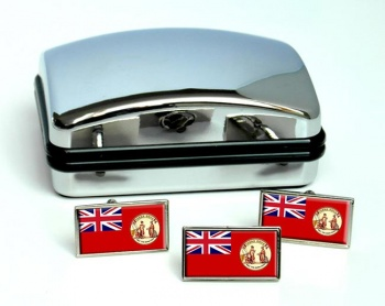 Newfoundland (Old) (Canada) Flag Cufflink and Tie Pin Set