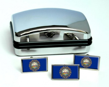 New Hampshire  Flag Cufflink and Tie Pin Set