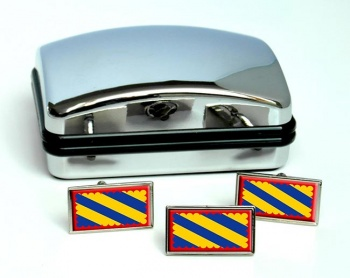 Nivernais (France) Flag Cufflink and Tie Pin Set