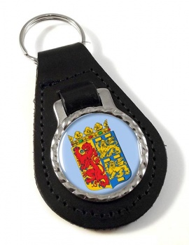 Noord-Holland (Netherlands) Leather Key Fob