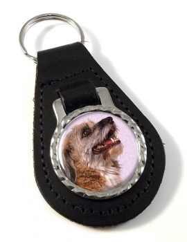 Norfolk Terrier Leather Key Fob