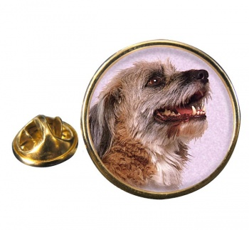 Norfolk Terrier Round Pin Badge