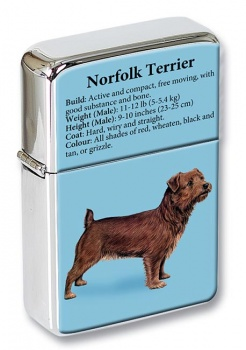 Norfolk Terrier Flip Top Lighter