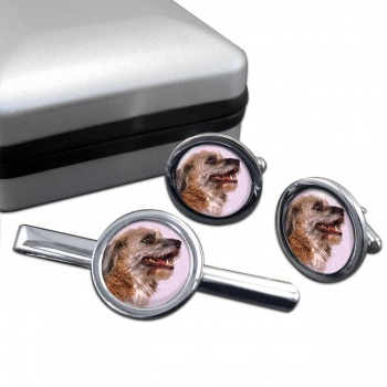Norfolk Terrier  Cufflink and Tie Clip Set