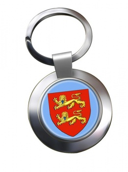 Normandie (France) Metal Key Ring
