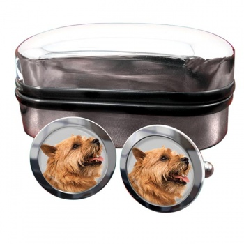 Norwich Terrier  Round Cufflinks