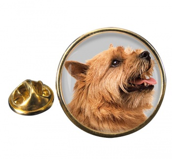 Norwich Terrier Round Pin Badge