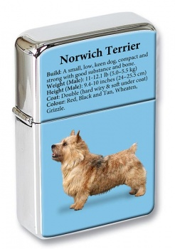 Norwich Terrier Flip Top Lighter