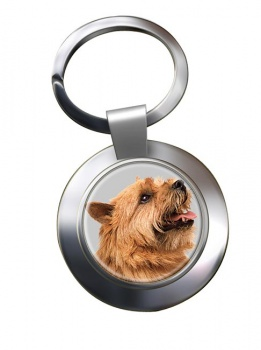 Norwich Terrier Metal Key Ring