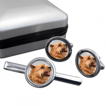 Norwich Terrier  Cufflink and Tie Clip Set