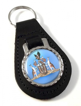 Northern Territory, Australia Leather Key Fob
