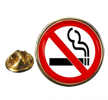No Smoking Round Pin Badge